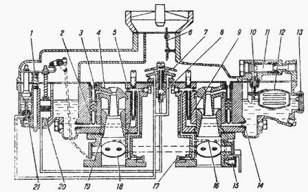 Схема карбюратора ГАЗ-52