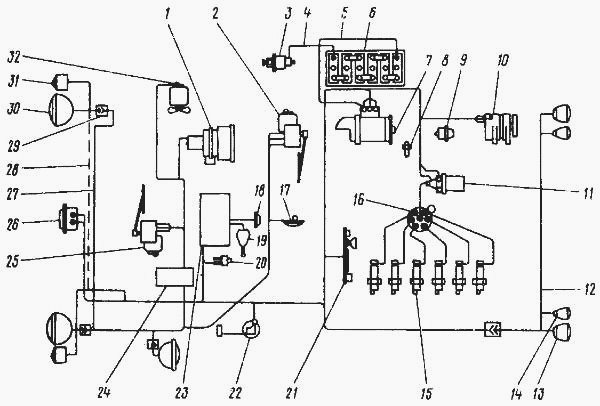 Схема электрооборудования для